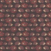 Lewis & Irene - Under The Oak Tree - 6905 - Hedgehogs on Very Dark Brown - A397.3 - Cotton Fabric